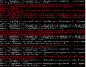 PuppetDB Module Failures